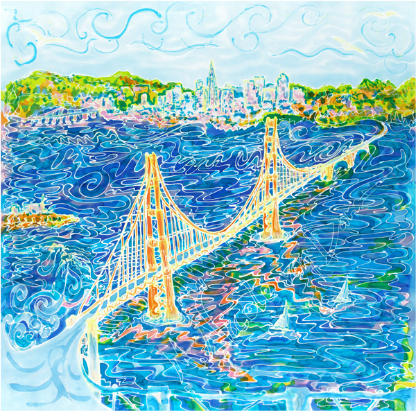 """""""Golden Gate"""" Limited Edition Giclee Print 00117"""