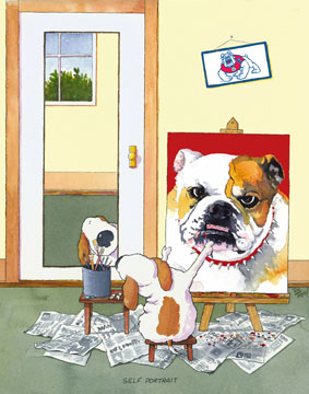 Self-Portrait Fresno State Bulldogs Mascot
