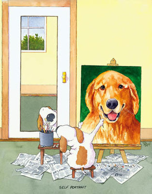 Self-Portrait Golden Retriever