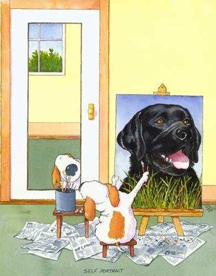 Self-Portrait Labrador, Black