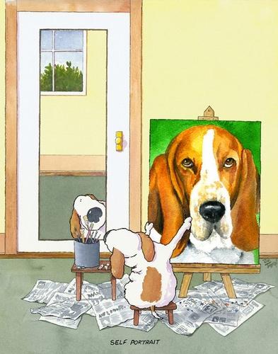Self-Portrait Basset Hound