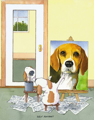 Self-Portrait Beagle