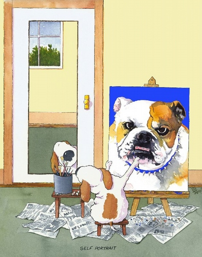 Self-Portrait Bulldog