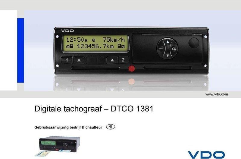 DTCO Gebruikershandleiding (Nederlands)