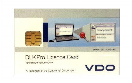 Overtredingen licentiekaart voor DLK Pro serie