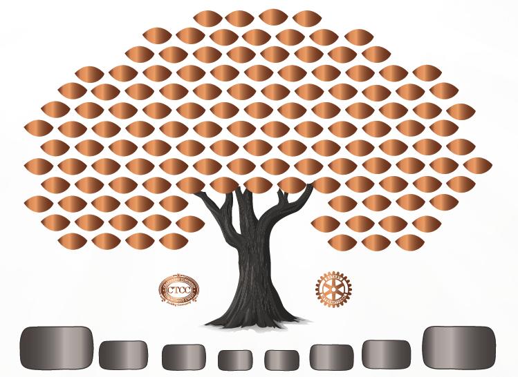 Bronze Tree Leaf