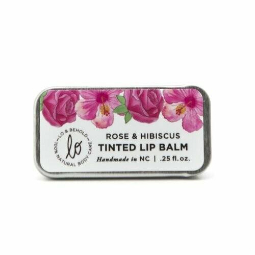 Tinted Lip Balm - Rose & Hibiscus