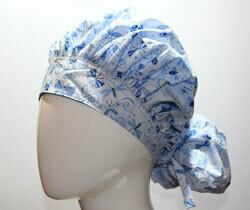 Green Scrubs - Tie Bonnet Hat - Bugga Blues