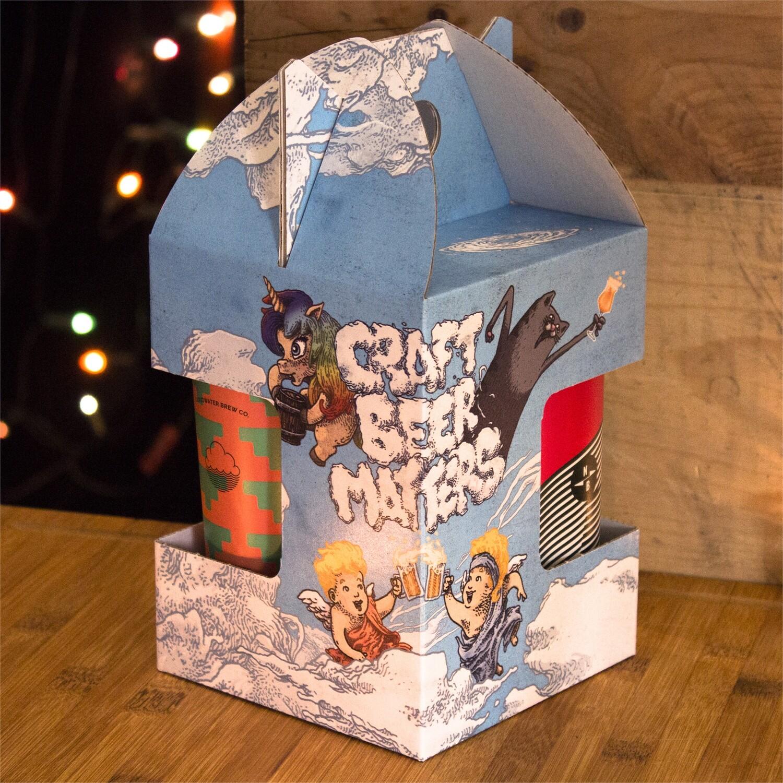 Emballage cadeau pour canettes