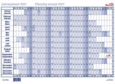 Der Papierjahresplaner A5 von Januar bis Dezember 2021 9,8 x 4,9 mm (H x B)