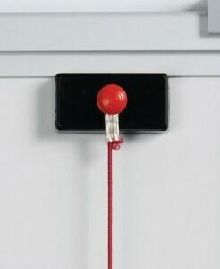 Datumslot rot, kürzbar mit zwei Magneten für alle Magnettafeltypen