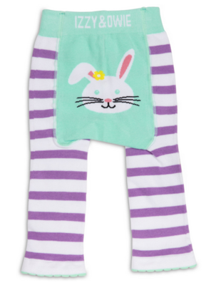 Izzy & Owie Blue and Lavender Bunny Leggings