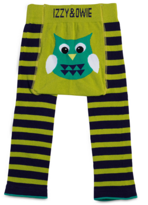 Izzy & Owie Green and Navy Owl Leggings