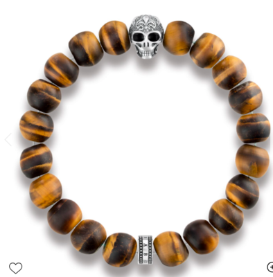 Power Bracelet Skull with Lily A1701