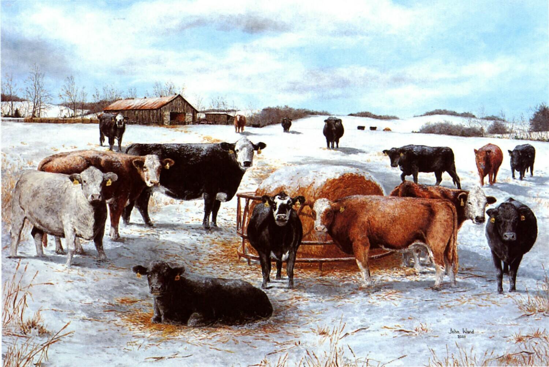 Winter Gathering Print