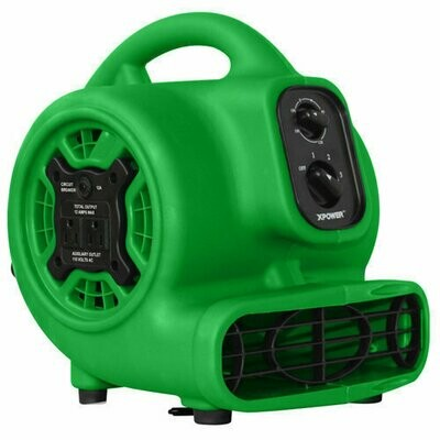 Mini Airmover, Green, 3 Speed, GFCI, w/Timer (Member Price Only $99)