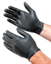 Black Nitrile Gloves 5.3mil   Size Medium   Case of 1,000 Gloves