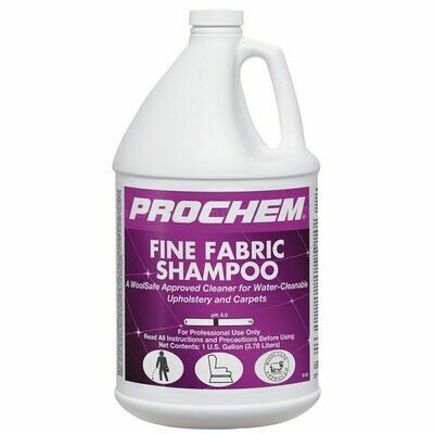 Fine Fabric Shampoo (Gallon) by ProChem | Water-Cleanable / Wool Safe Cleaner