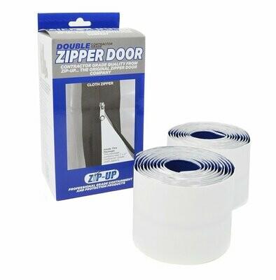 Zip-Up Self Adhesive HD Cloth Zipper Door   2-Pack