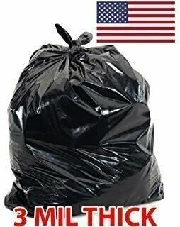 3 Mil Black Flap Tie Contractor Bags 42gl | 32-Count