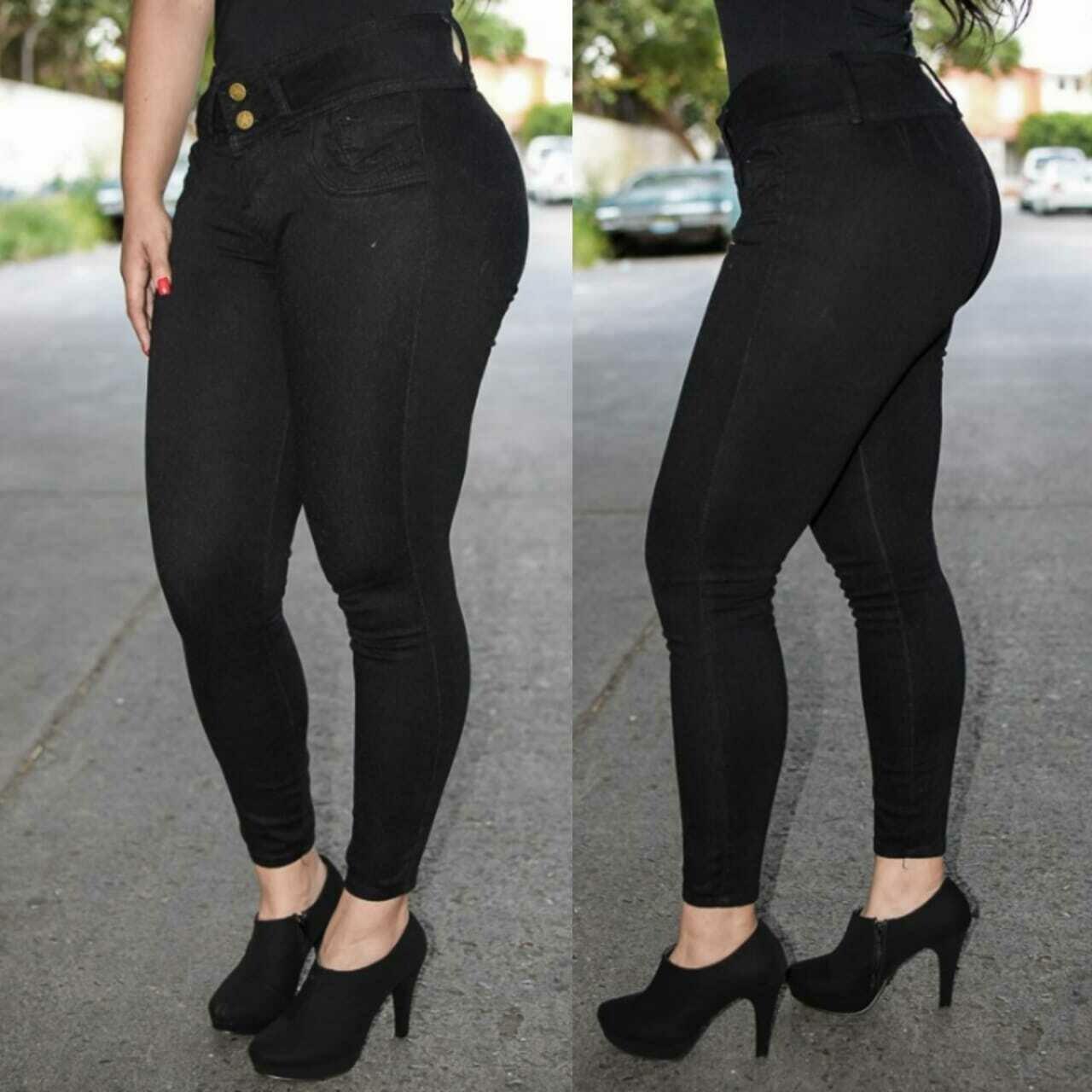 Pantalon tobillero negro M-11