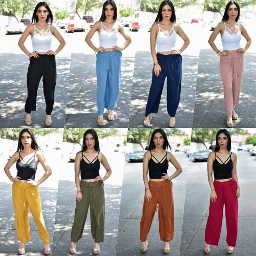 Maxi pantalon recto