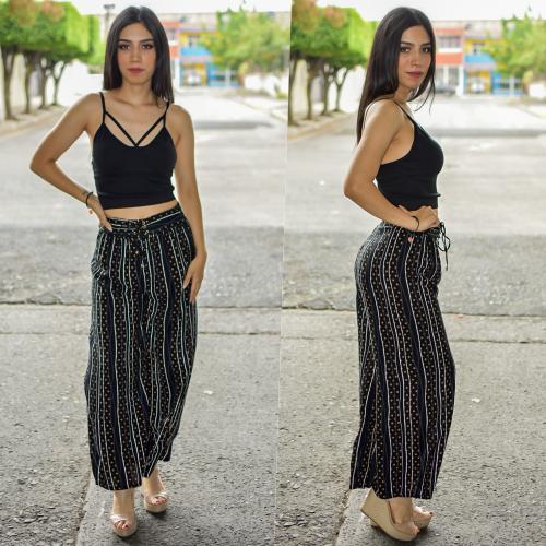 Pantalon recto lineas