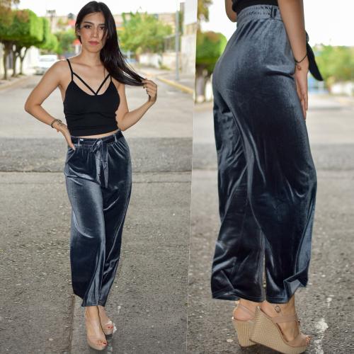 Pantalon de terciopelo-gris