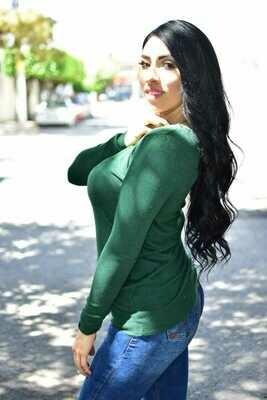 Sueter cuello redondo - Verde