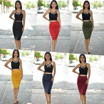 Paquete de 10 faldas corte lapiz modelo 207