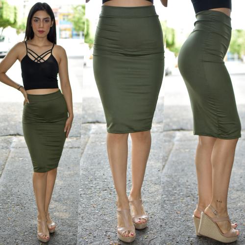 Falda lapiz - Verde
