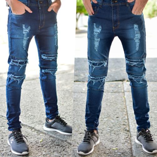 Pantalon skinny Para caballero-azul obscuro