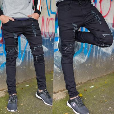 Pantalon skinny Para caballero-Negro