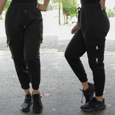 Pantalon pants Negro con detalles en blanco