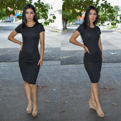 Vestido Lapiz - Negro