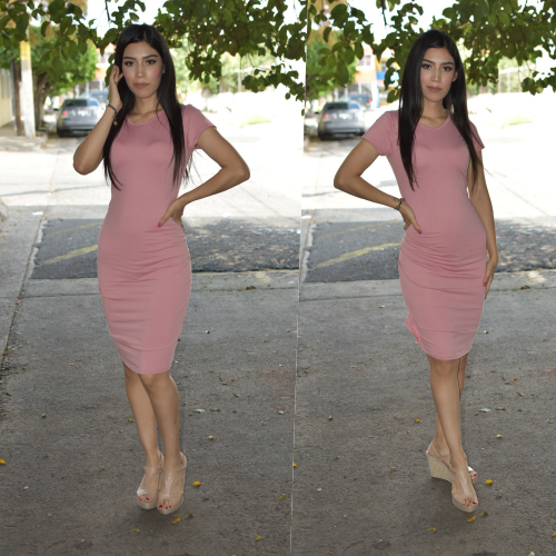 Vestido Lapiz - Rosa-00887