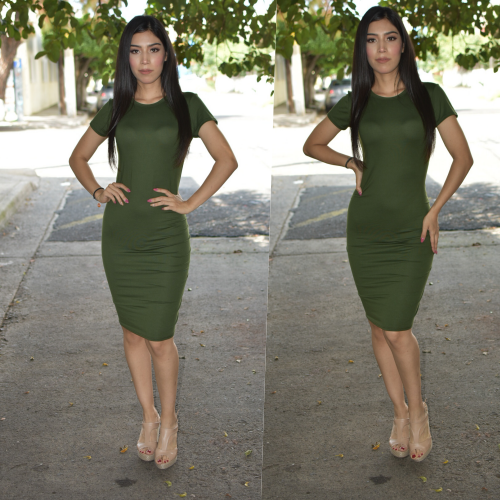 Vestido Lapiz - Verde-00889