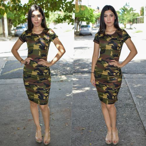 Vestido Lapiz - Camuflaje-00886