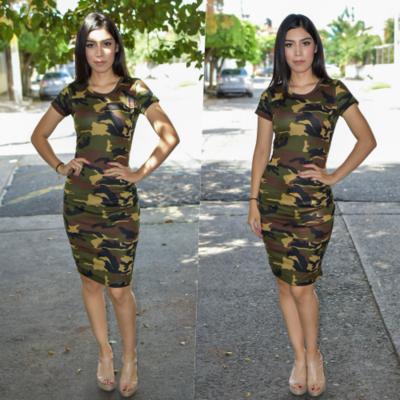 Vestido Lapiz - Camuflaje