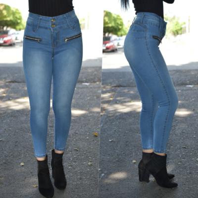Pantalon tobillero con cierres laterales-claro-00946