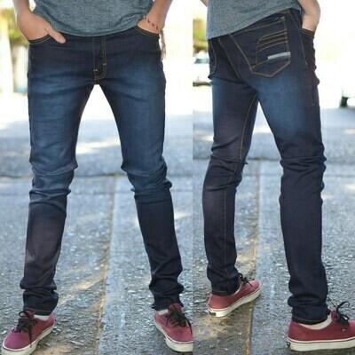 Pantalon skinny Para caballero-azul oscuro-01018
