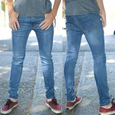 Pantalon skinny Para caballero-azul claro-01016
