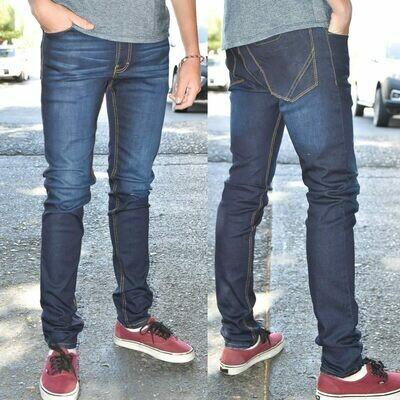 Pantalon skinny Para caballero-azul oscuro-01017
