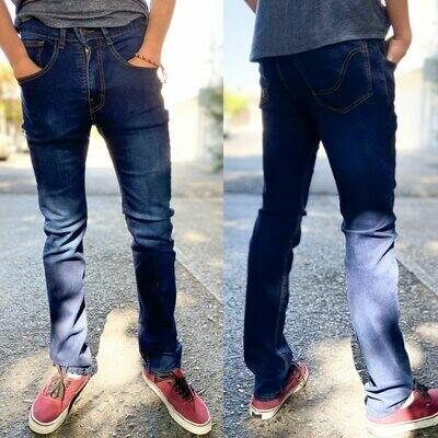 Pantalon skinny Para caballero-azul claro-01021