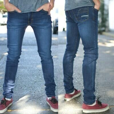 Pantalon skinny Para caballero-azul claro-01020