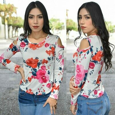 Blusa floral-Rosa