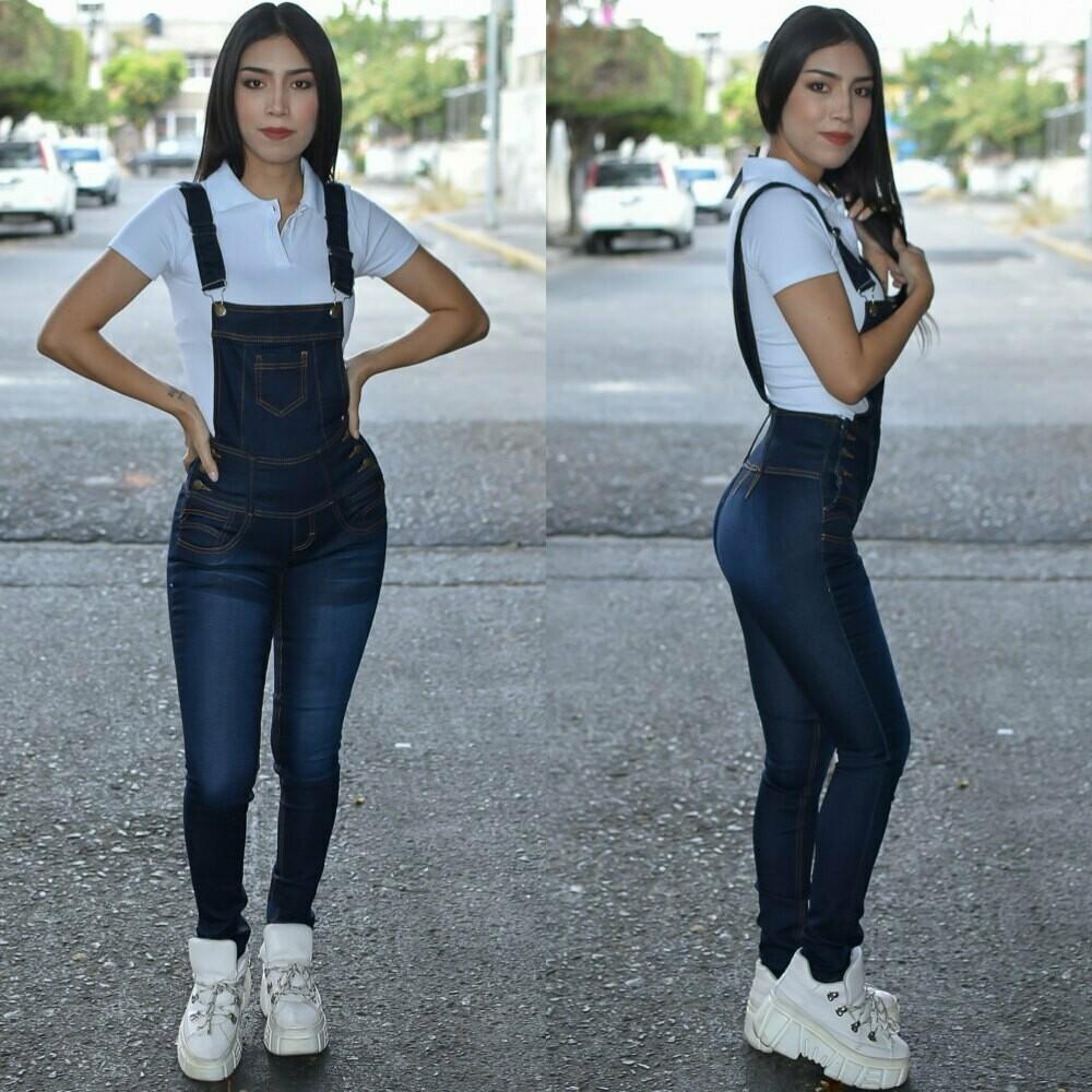 Jumper de pantalon para dama azul obscuro-01167