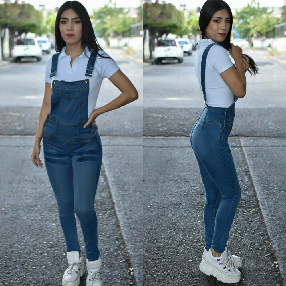 Jumper de pantalon para dama azul claro-01168