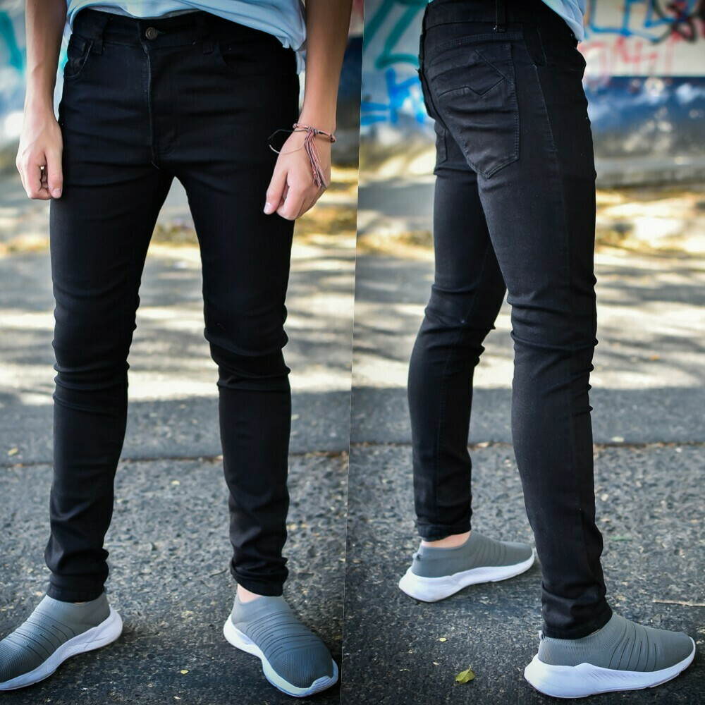 Pantalon skinny Para caballero-negro-01180