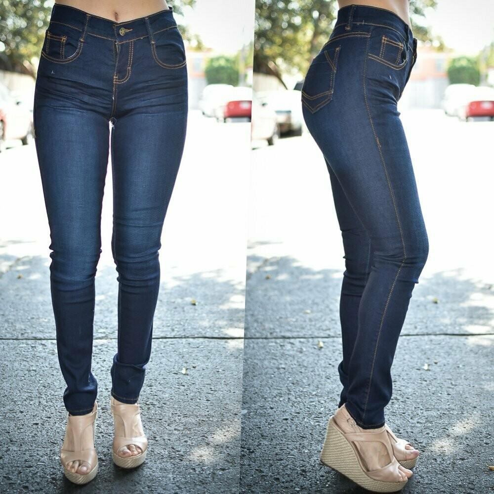 Pantalon skinny Azul oscuro  modelo 01195